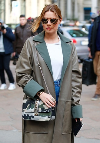 coat spring fashion love army green jacket dope outfit