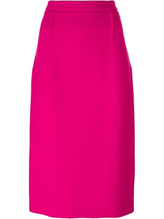 skirt zipped skirt women wool purple pink