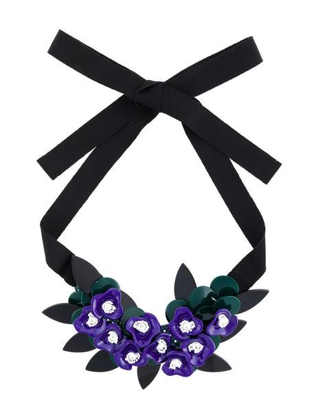 P.A.R.O.S.H. women plastic pet necklace cotton black jewels