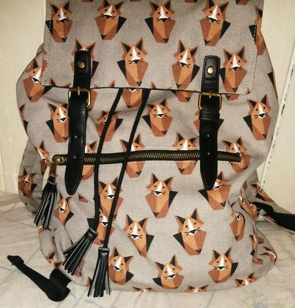 bag fox fashion school bag backpack foxy