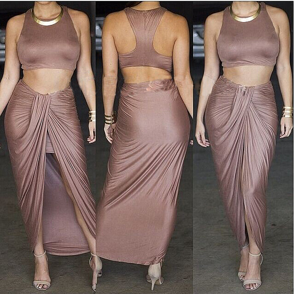 bandage dress two-piece