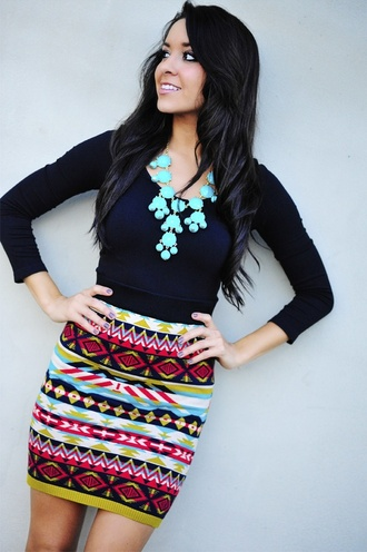 skirt tribal skirt stripes colorful