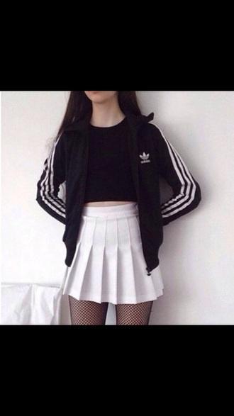 skirt tennis skirt white tumblr pleated