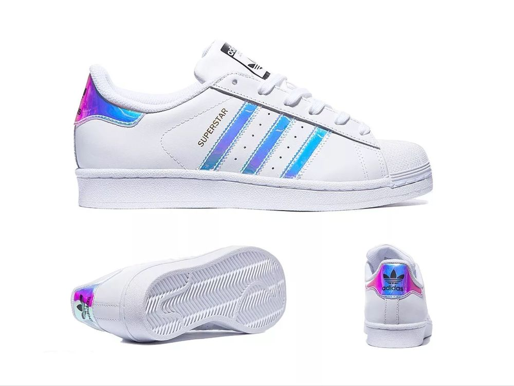 Adidas Superstar GS White Metal Silver Juniors Womens Girls