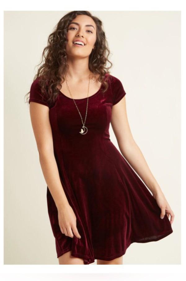 dress red velvet