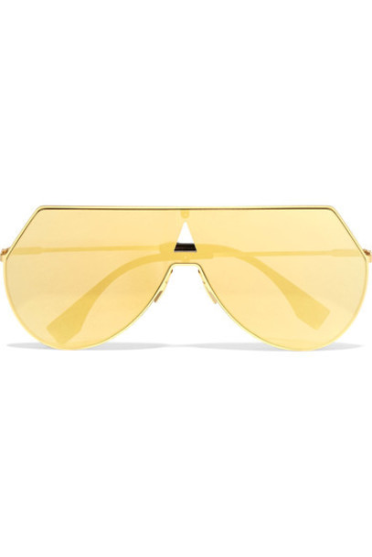 Fendi style sunglasses mirrored sunglasses gold