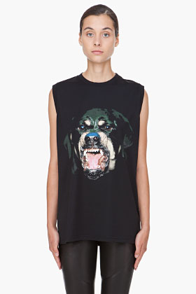 Givenchy Black Rottweiler Tank Top for women | SSENSE