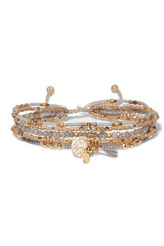 beaded gold jewels