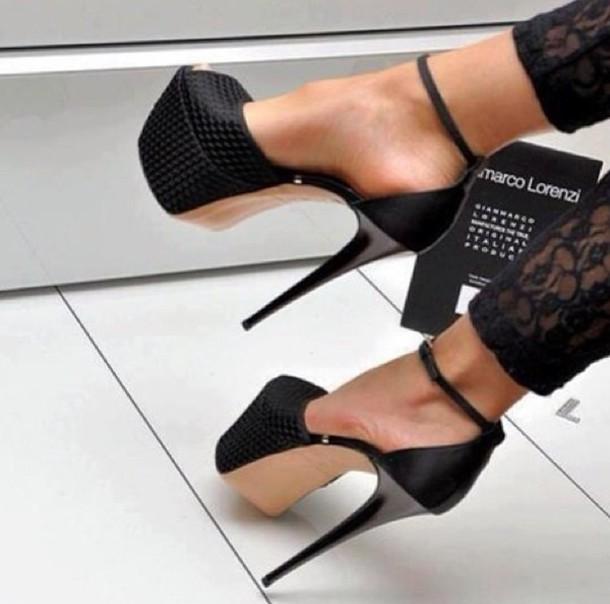 Shoes Platform Shoes Black Shoes High Heels Black Heels Black