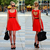 Heart Cut Out Pleated Dress in Red - Retro, Indie and Unique Fashion
