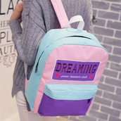 bag,kozy,kawaii,pastel,cheerleading,pastel pink,pastel blue,japan,grunge,tumblr,school bag,cool,pastel goth