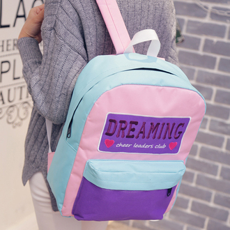 bag kozy kawaii pastel cheerleading pastel pink pastel blue japan grunge tumblr school bag cool pastel goth