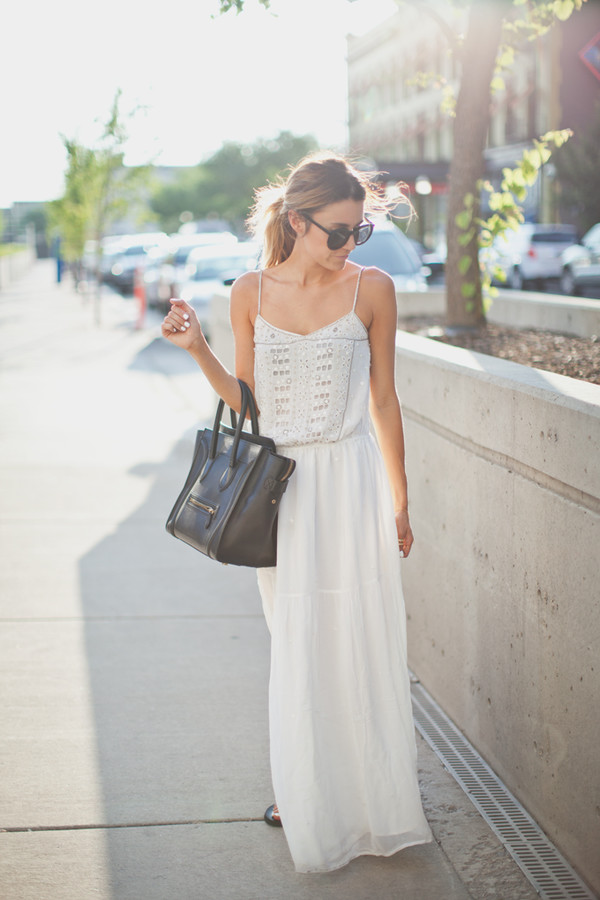 hello fashion jewels white maxi dress strappy