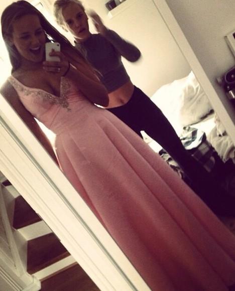 sparkly prom dress prom pink pink dress glitter dress sequins long prom dresses