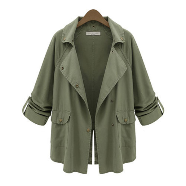 coat fashion army green denim jacket cute layered army green jacket forest green style top cardigan pockets