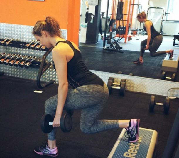 2d90ce5df8680 leggings grey marl sportswear fitness cardio running tights tights tight