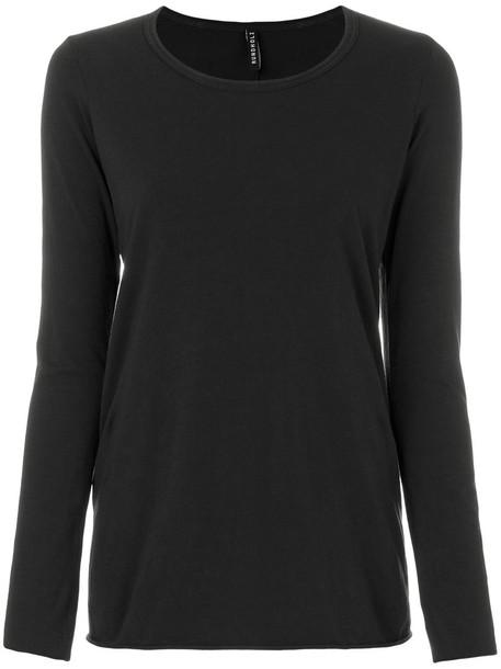 Rundholz t-shirt shirt t-shirt long women spandex cotton grey top
