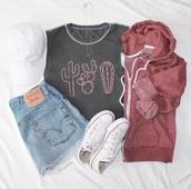 top,grey,t shirt.,cactus,cactus shirt,sleeveless,sleeveless top