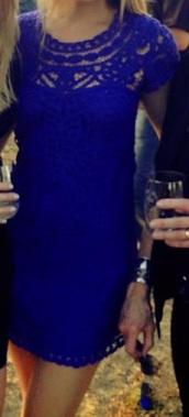 dress,crochet,blue,lace,wedding,scalloped edges