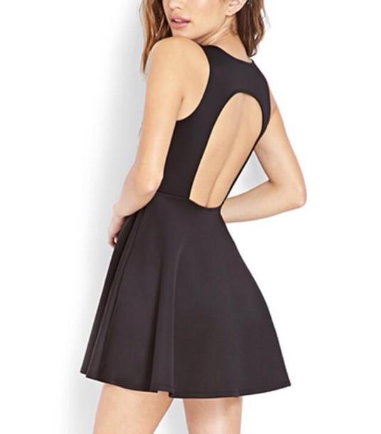 dress black little black dress open back