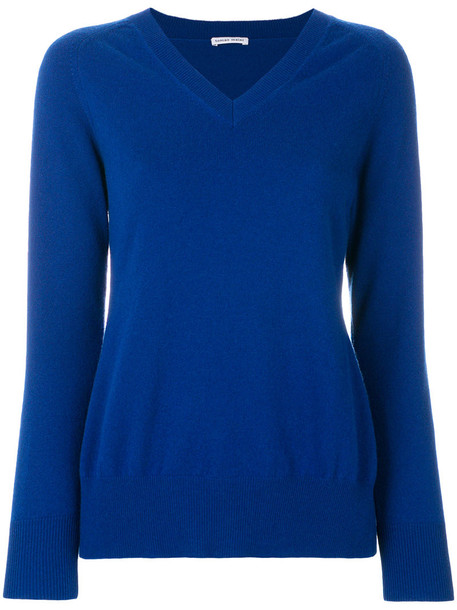 sweater back women blue