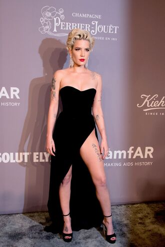 dress sandals velvet velvet dress halsey amfar strapless bustier bustier dress shoes