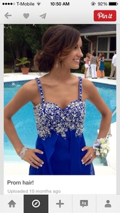 dress,blue sparkles,beaded
