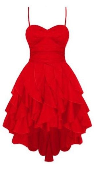 dress red dress red red prom dress sleeveless asymmetrical dress cute dress cute sexy hot