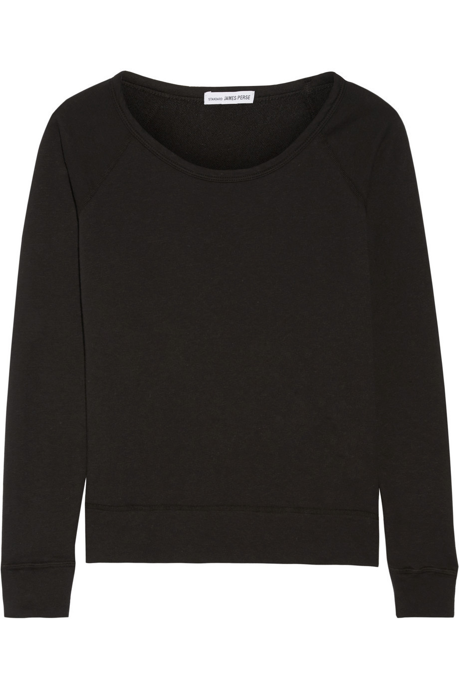 James Perse Vintage Supima Cotton-Terry Top in black