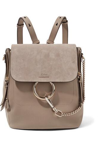 backpack suede backpack leather suede bag