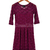 Ladies Round Neck 3/4 Sleeve Lace Dress With Belt