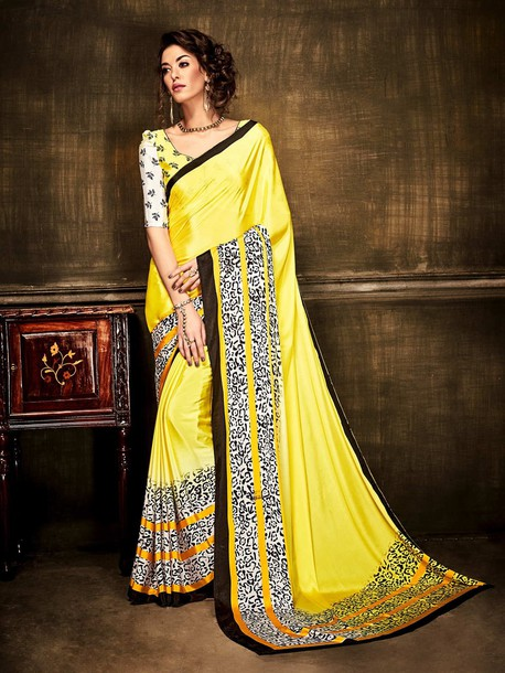 blouse causal saree ethnic wear printed saree women clothing