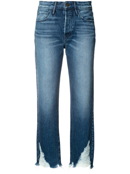 3x1 jeans cropped jeans cropped women cotton blue