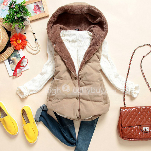 New Winter Fall Casual Hoodie Waistcoat For Women_15.99
