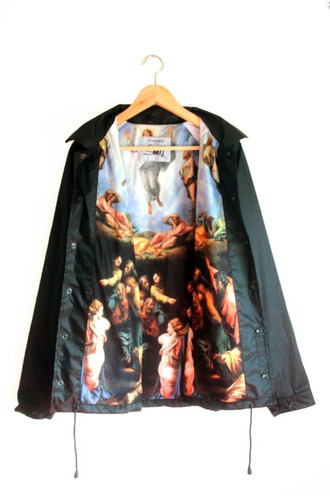 jacket mural painting raincoat