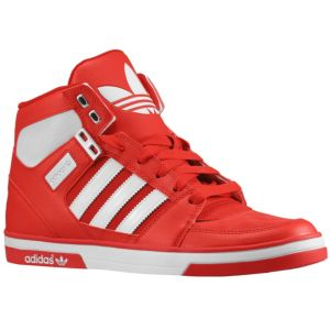 adidas Originals Hard Court Hi 2 - Men's - Basketball - Shoes - Light Scarlet/White