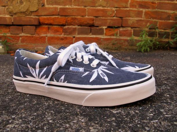vans weed leaf schuhe