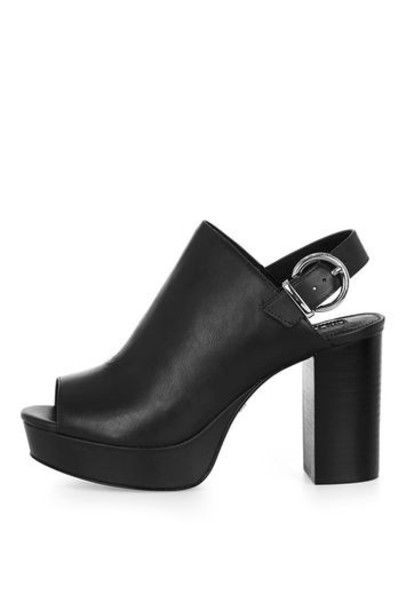 Topshop sandals platform sandals black shoes