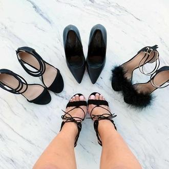 shoes high heel sandals black heels