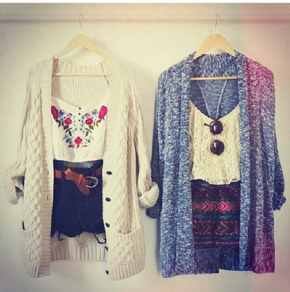 aztec shorts blouse cardigan summer outfit summer outfits