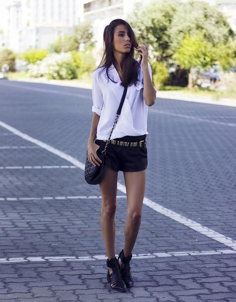 mexiquer blouse belt shorts bag shoes
