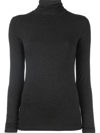 blouse women spandex grey top