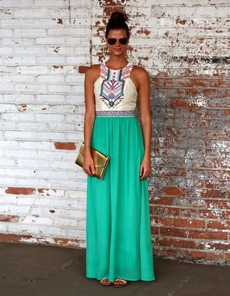 dress maxi dress maxi long colorful neckline