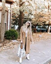 bag,faux leather,snake skin,snake print,ankle boots,white boots,coat,long coat,black jeans,blouse,sunglasses