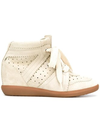 women sneakers leather suede grey wedge sneakers shoes