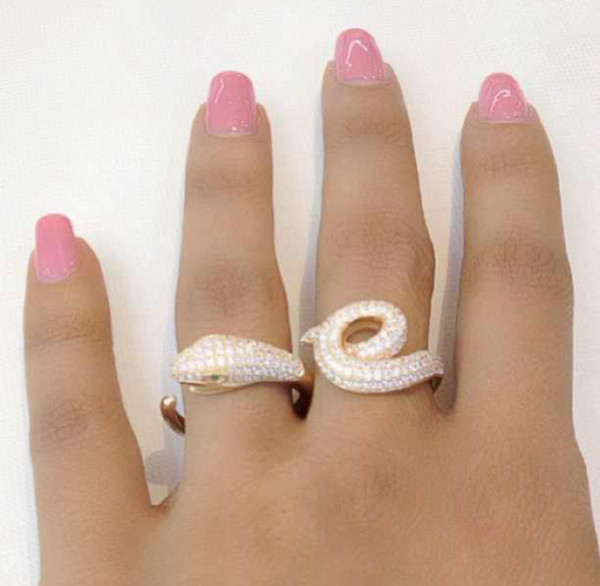 jewels snake ring diamonds