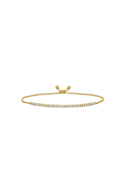Sachi Diamond Zipper Bracelet in gold / metallic