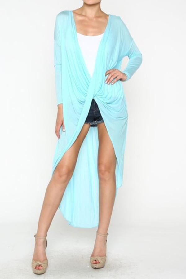 cardigan turquoise blue