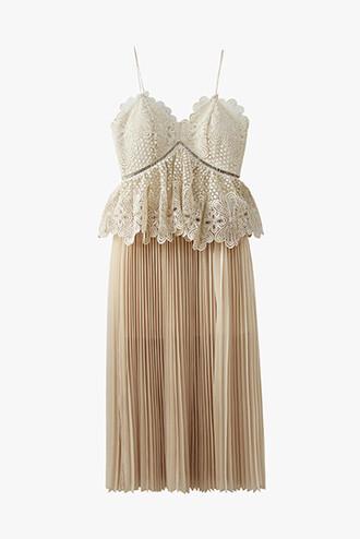 dress cocktail dress wedding clothes nude dress pleated dress