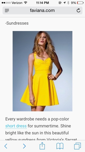 dress yellow sundress